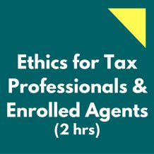 Ethics CPE Tax Enrolled Agents
