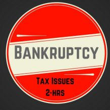 Bankruptcy tax CPE course