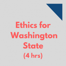 Ethics for Washington State 4-hr online CPE course