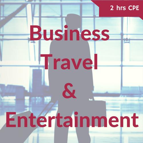 Business Travel & Entertainment Deductions CPE Course