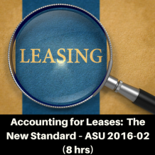 Accounting for Leases CPE course