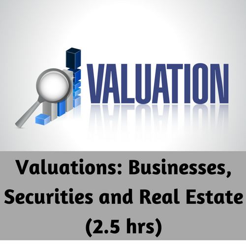 Valuations: Businesses, Securities and Real Estate