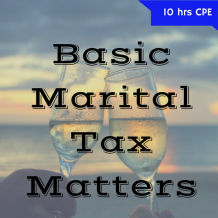 Marital Tax Matters 2 hr online CPE course