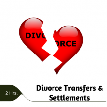 Divorce Transfers & Settlements 2 hr online CPE course