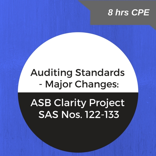Major Changes to Auditing Standards CPE course