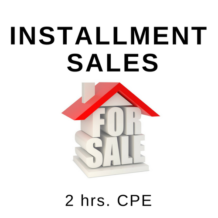 Installment Sales 2 hr CPE Course