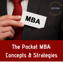 Pocket MBA Concepts & Strategies CPE Course
