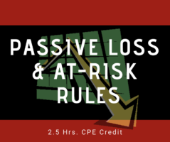 Passive Loss and At Risk Rules online CPE Course