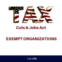 TCJA Summary Exempt Organizations