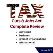 Tax Cuts and Jobs Act Complete Review