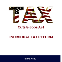 TCJA Individual Tax Reform Online CPE Course