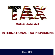 TCJA International Tax Provisions