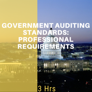 Government Auditing Standards: Professional Requirements