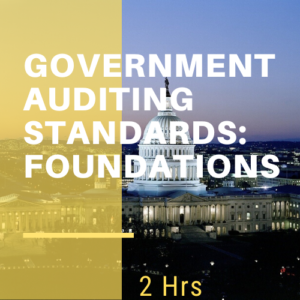 Government Auditing Standards and Foundations