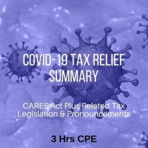 Covid-19 Tax Relief Summary CPE Course