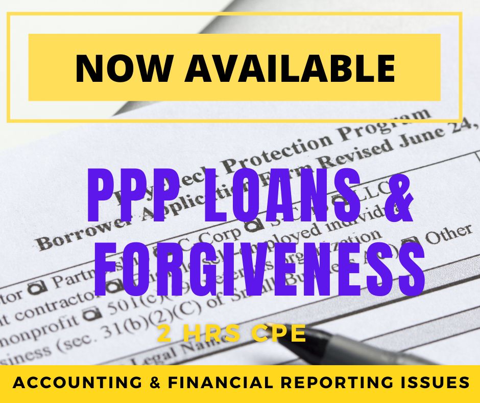 PPP Loans and Forgiveness