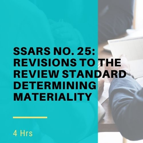 SSARS No. 25 Online CPE Course
