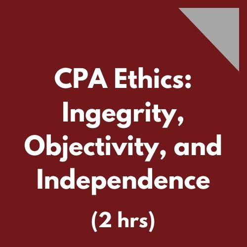 CPA Ethics - Integrity Objectivity Independence
