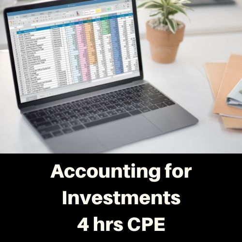 Accounlting for Investments online CPE Course
