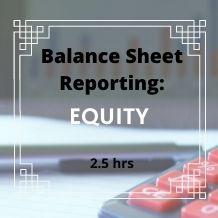 Balance Sheet Reporting Stockholders Equity