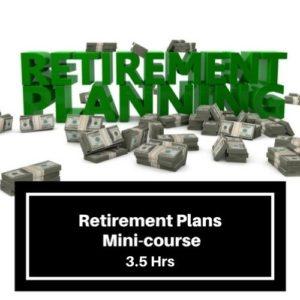 Retirement Plans 3.5 hr CPE Course