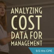 Analyzing Cost Data for Management CPE course